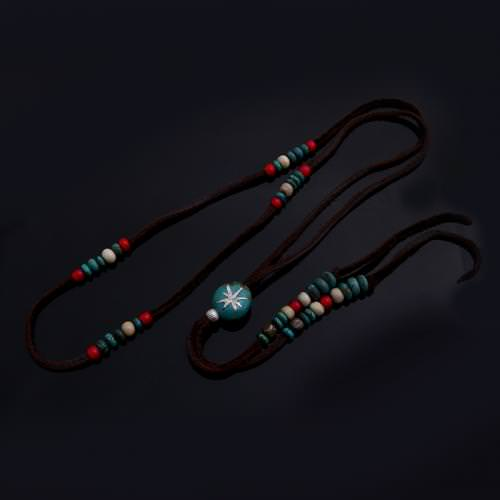 INLAID STONE LOOP TIE
