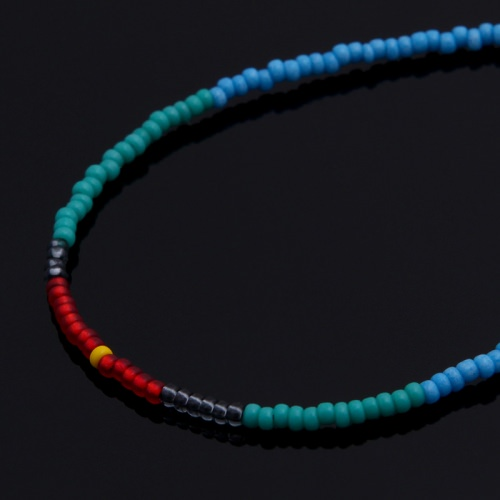 SEED BEADS NECKLACE(BLUE)