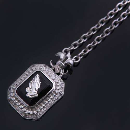 PRAYING SQUARE PENDANT