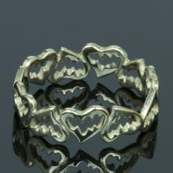 FANGED HEART RING(K10)